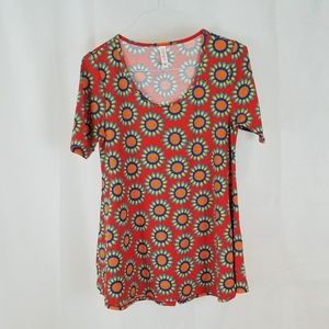 LULAROE Womens Dress- Long T Shirt Floral